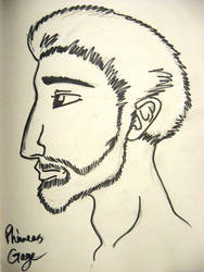 Phinneas Gage in profile by Tallulah-Ward