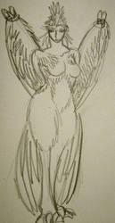 True Avian with folded wings by Tallulah-Ward