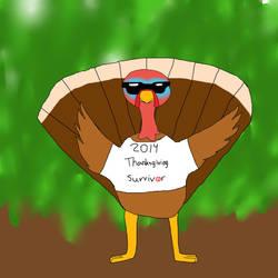 Thanksgiving survivor by magicwolf2012