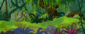 Green Jungle Background by RoChou
