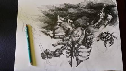 Lich Lord Asphyxious wip by ShortBusStudios