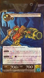 Samus alter on a FoW tcg card by ShortBusStudios