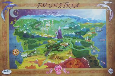 Hi Resolution Equestria Map by PixelKitties