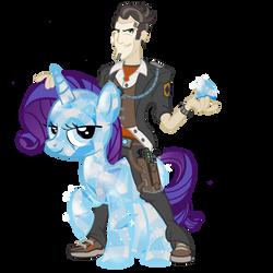 Handsome Jack's Diamond Pony by PixelKitties