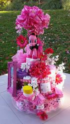 Pinkie Pie Diaper Cake by PixelKitties