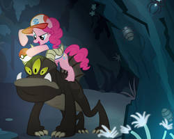 Pinkie Vs The Unidentifiable Creature by PixelKitties