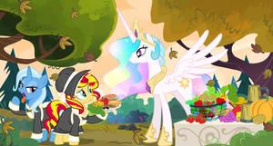 Equestria Thanksgiving by PixelKitties