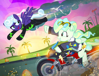 Rolling Thunder and Vapor Trail by PixelKitties