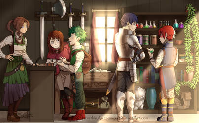 [MHA AU] Odds and Ends shop by InsertSomthinAwesome