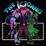 [DELTARUNE SPOILERS] This crazy gang by InsertSomthinAwesome