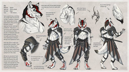 Syrio character sheet - armored version by Thalathis
