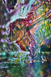 Reflecting On a Jeweled Mountain by lisamarimer