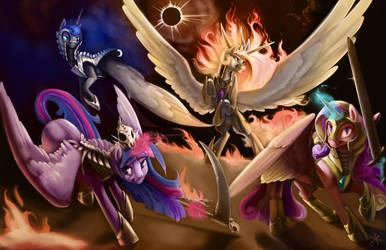 The Four Princesses of the Apocalypse by SilFoe