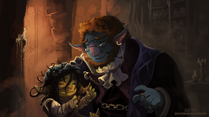 Critical Role - Nott and Pumat Sol by knight-mj