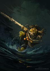 Critical Role- Goblin Water Skiing by knight-mj