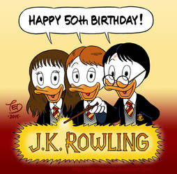 Happy 50th birthday, J.K. Rowling! by TedJohansson