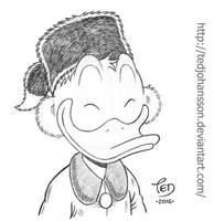 Yukon Scrooge smiling by TedJohansson
