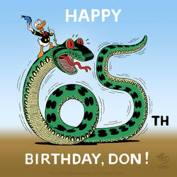 Happy 65th birthday, Don! by TedJohansson