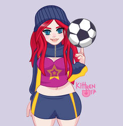 Soccer Girl by KittRen