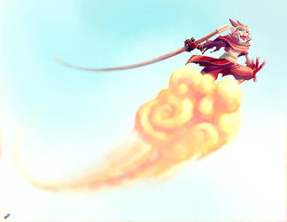 Monkey King by derekblairart