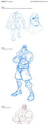 Photoshop Coloring Tutorial: Sagat by derekblairart