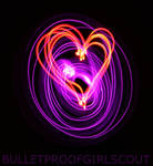 Light painting : Heart 2 by Bulletproofgirlscout