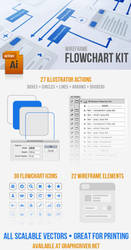 Wireframe Flowchart Kit by kevinhamil