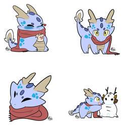 Winter Dragon Set -=RB Merch=- by NovaStar134