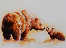 Bear Kisses by jenimal