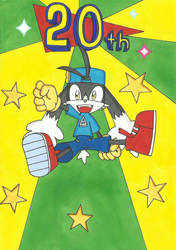 Klonoa's 20th Anniversary by AndyCat90