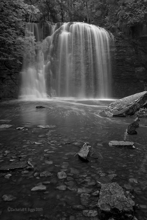 Hayden Falls Black and White by BuckNut