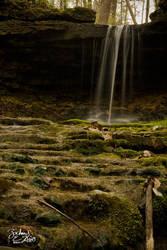 Side Fall at Glen Helen by BuckNut