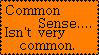Common sense Stamp by Alien-Maiden