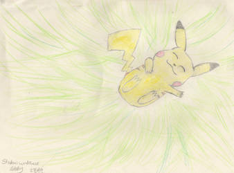 Pikachu on the medow by LuLzMe