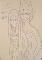 Queen Adhera and King Atlas (Sketch) by rissy20