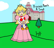 Peach and Toad by j3-proto