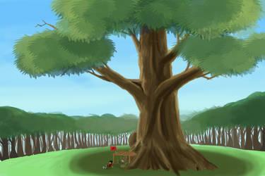Big ol' tree by wayne-kun