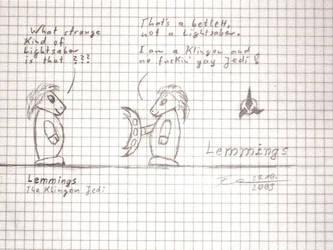 Lemmings - The klingon Jedi by Warlord103