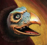 Chamberlain Skeksis from THE DARK CRYSTAL by Skulpturen