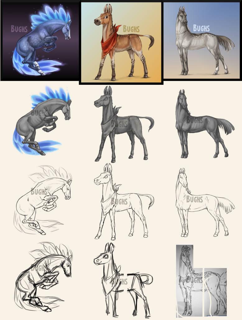 Howrse Art April 2016 By Bughs 22 On Deviantart
