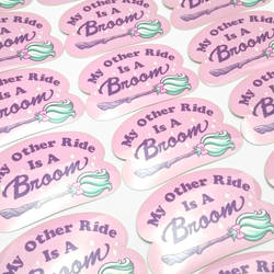 My Other Ride Is A Broom Stickers by katiesketch