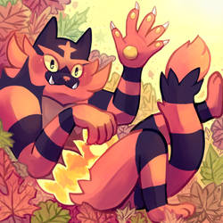 Incineroar by Flavia-Elric