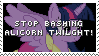 Stamp: Stop bashing Alicorn Twilight! by ToonAlexSora007