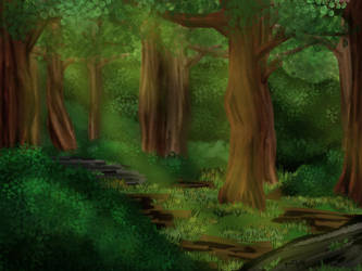 Forest (Background Practise #3) by Aisudi