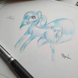 fan draw for lizzie by pupedoor