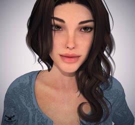 Lara Croft + Blender Cycles by Zaza-Boom