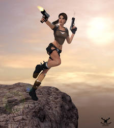 Tomb Raider - Action on the edge by Zaza-Boom