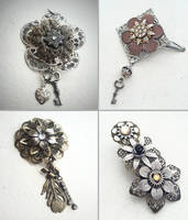 Steampunk Hair Clips by NBetween