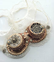 Lacy Steampunk Costume Goggles by NBetween