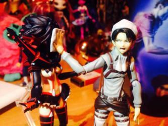 Matoi Ryuuko and Levi ( Rivaille ) - figma figure by Pangashka